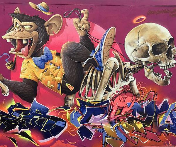 Scaf y Abys, artistas franceses llegan a la ciudad de Bogotá para compartir sus grafitis