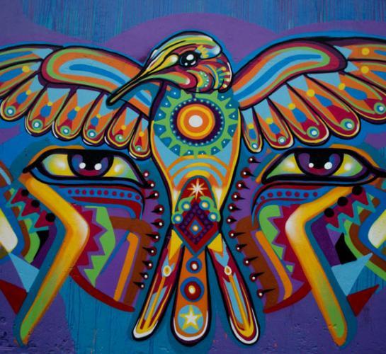 El viaje ancestral en el graffiti de Guache  CARTEL URBANO