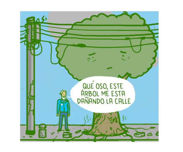 Zhaken: talar un árbol, sembrar un bolardo