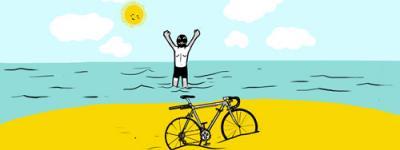zhaken y su travesía en bicicleta hasta la costa colombiana