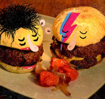 hamburguesas y rock