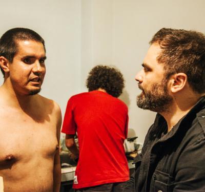 Ojos bien cerrados: una tarde haciendo cine (sin ver) con Spiros Stathoulopoulos