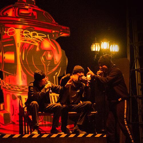 'La Ventana Indiscreta' o la noche que Sello Indio sumergió en rap y teatro la Gilberto Alzate