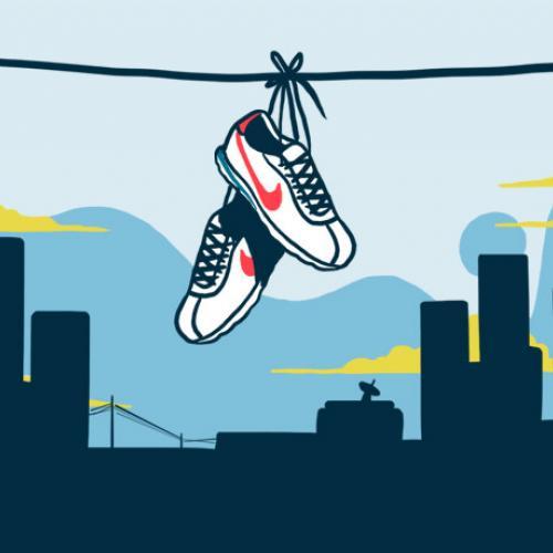 Nike Cortez cuadrada