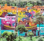 'El Rio de la Vida': 213 fachadas de Los Puentes convertidas en el mural más grande de Bogotá
