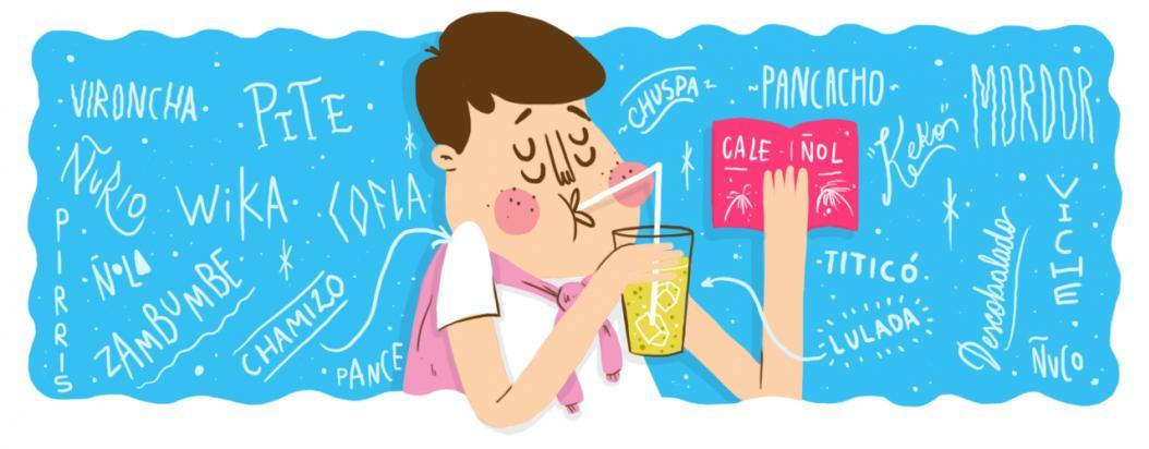 Diccionario Caleñol ilustrado por Enka