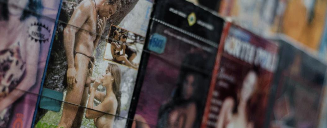 Portada de revistas porno