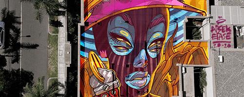 El arte callejero muta: así fue el primer festival internacional de intervenciones digitales sobre techos