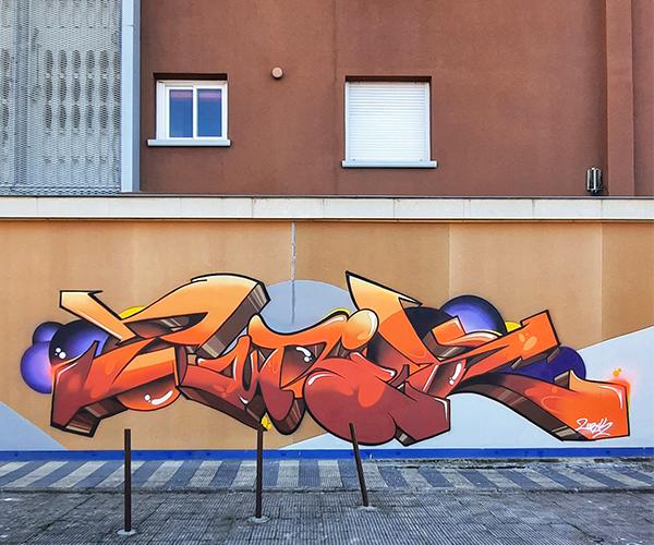 Estricto y riguroso: así es el grafiti de Zurik