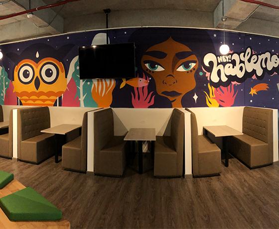 espacios con diseño y arte en Bogotá