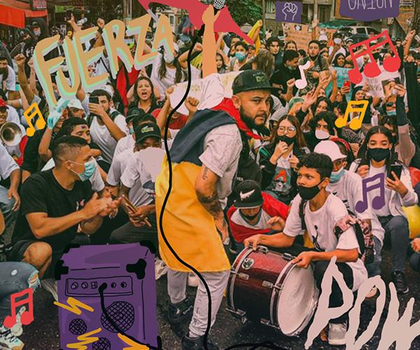 Kbala, el rapero y líder comunitario que la Policía señala como vándalo