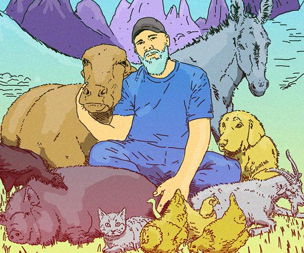 el exganadero que fundó un santuario animalista