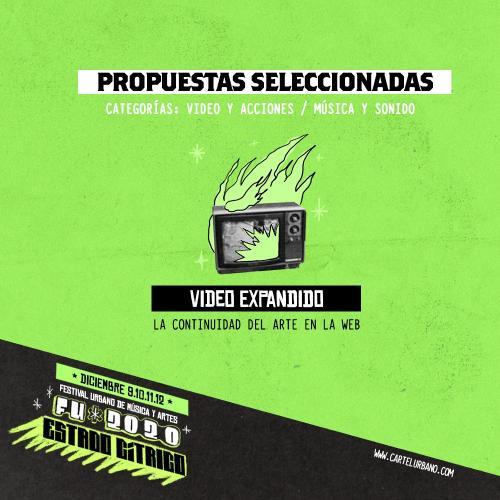 Propuestas seleccionadas de la convocatoria Video expandido FU2020 – la continuidad del arte en la web.