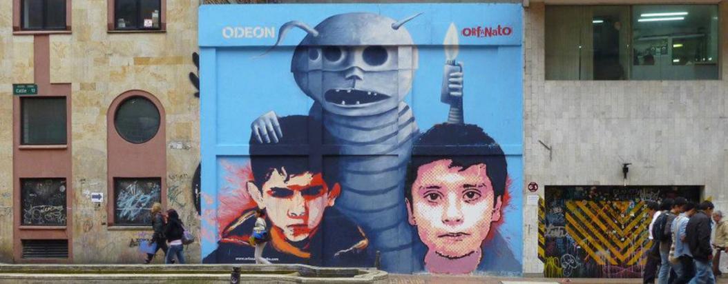 exposición orfanato grafiti
